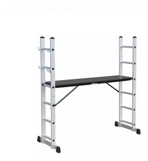 Escalera Aluminio Andamio Multiposición Kushiro 8 Escalones