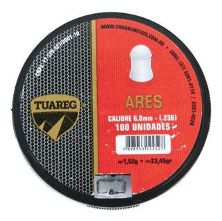 Chumbi Tuareg Modelo Ares 6,0mm - 100 Unidades