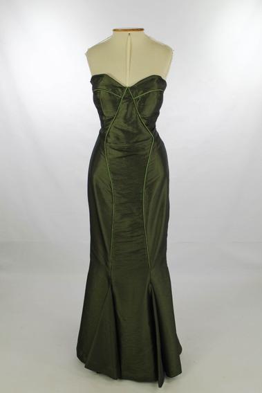 Vestido De Festa Longo Verde Oliva Modelagem Sereia