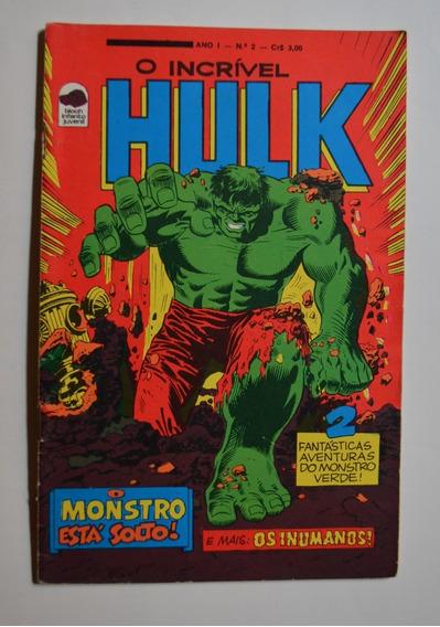 O Incrível Hulk Nº 2 Bloch 1975 Excelente Estado Formatinho