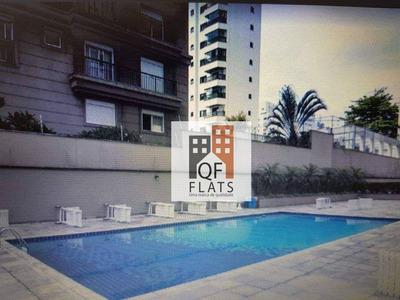Flat Com 1 Dormitório Para Alugar, 36 M² Por R$ 2.600/mês - Moema - São Paulo/sp - Fl1360