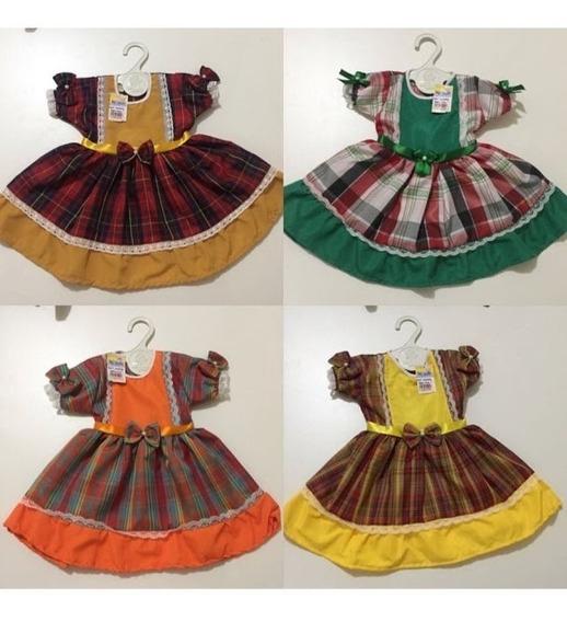 Promoção Vestido Bebe 1 A 3 Meses Sao Joao Festa Junina