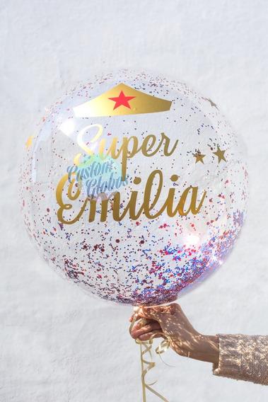 Burbuja Desinflada Y Vinilo Para Personalizar C/aire Y Helio
