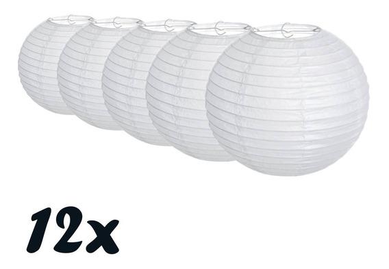 Kit 12 Luminária Japonesa Chinesa Oriental Lanterna 30cm H8