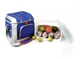 Bolsa Caixa Cooler Térmica Praia Camping Para 16 Latas Azul