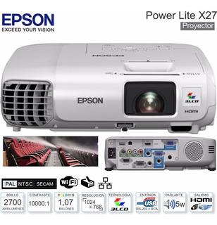 Proyector Epson Powerlite X27 Hdmi 2700 Lumens Caja Permuto