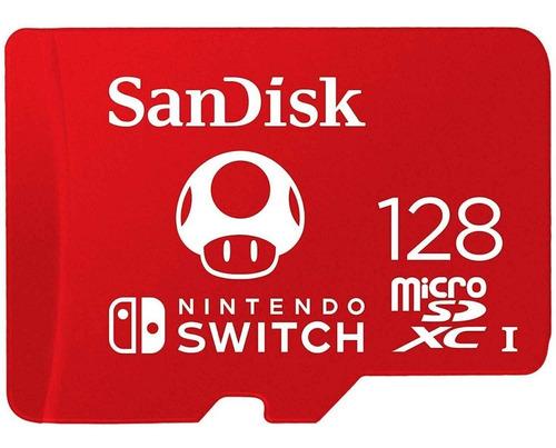 Memoria Micro Sd 128gb Sandisk P/ Nintendo Switch