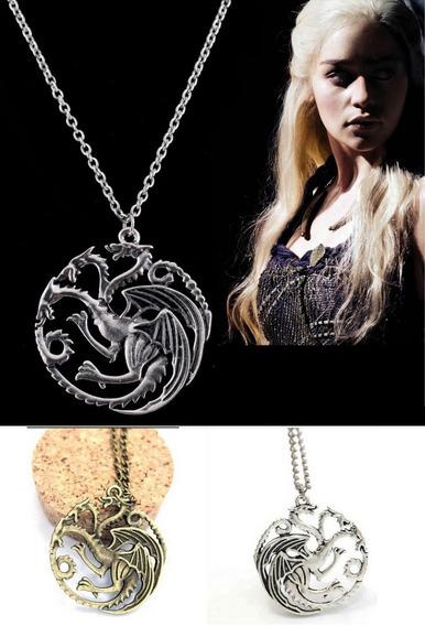 Colar Dragão Daenerys Games Of Thrones Frete Fixo R$10