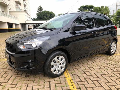 Ford Ka 1.0 Se  Ano 2017  Cor Preta Completo  Laudo Aprovado