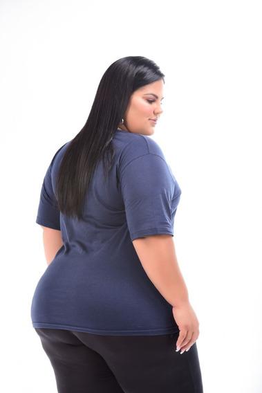 Kit 3 Camisetas Plus Size Feminina 100% Algodão G1 G2 G3