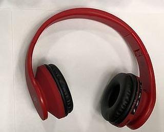Auriculares Bluetooth Radio Fm Sd Vincha En Rojo Epeb016