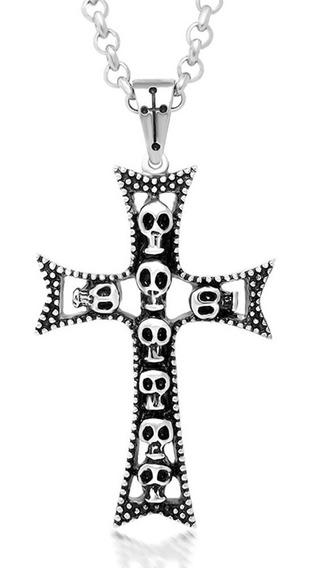 Regalo Hombre Amor Novio Cruz Crucifijo Calavera Rock Punk!!