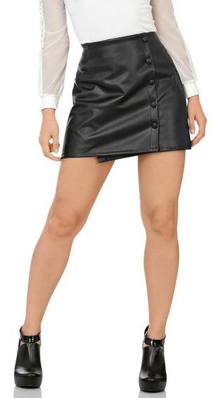 Falda Soviet Mujer Negro Vini-piel 7722