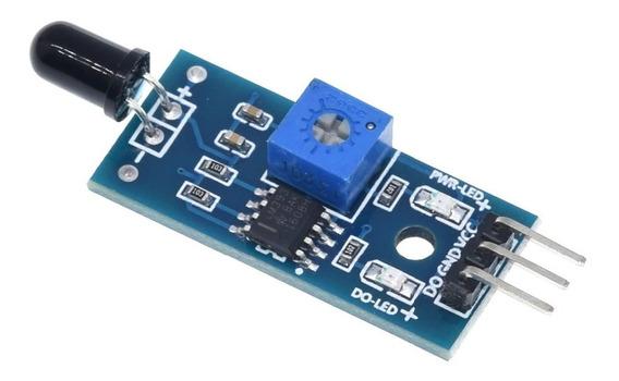 Sensor Detector De Chama Fogo Flame Detector - Arduino Pic