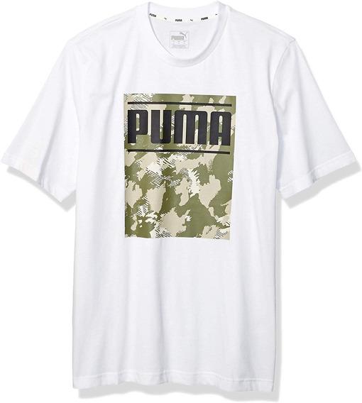 Playera Puma Hombre Logo Camo En Pecho Original Importada