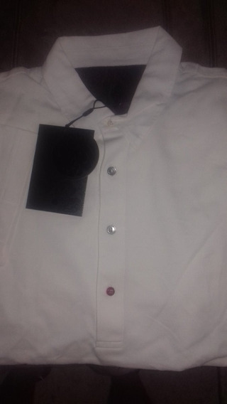 Pretty Green Polo White Black Label Medium