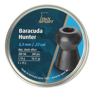 Chumbinho Carabina De Pressão H&n Baracuda Hunter 5.5mm 200u