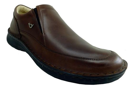 Zapato Cuero Hombre Red Horn Italy C/elástico Talles 39 A 45