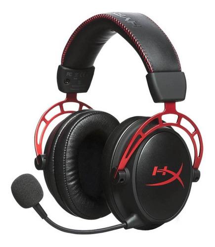 Imagen 1 de 3 de Audífonos gamer HyperX Cloud Alpha black y red