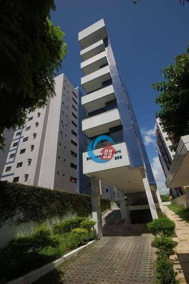 Apartamento Com 1 Dormitório Para Alugar, 40 M² Por R$ 2.000/mês - Graças - Recife/pe - Ap9945