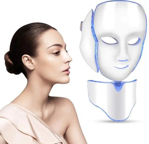 Mascara Facial Led Con Cuello Fotonica 7 Colores Facial