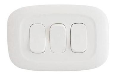 Interruptor Gálica 2 Triple Blanca X 7und