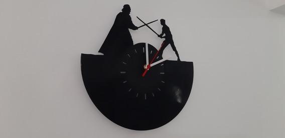 Relógio De Parede, Star Wars, Disco De Vinil.