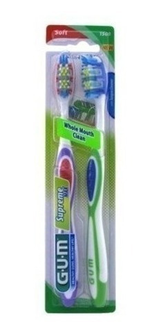 Gum Supreme Toothbrush Soft Twin Pack, 2 Ea