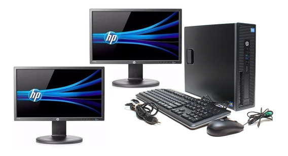 Cpu + 2 Monitores Hp Elitedesk Core I5 6500 8gb 500gb