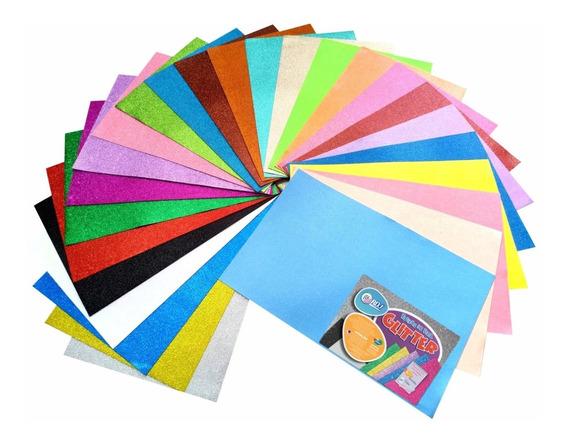 Placa Folha De Eva Com Glitter 40 X 60cm 1,8mm - 10 Unidades