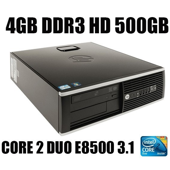 Hp Compaq 6000pro Small Core2 Duo 4gb Ddr3 Hd500gb