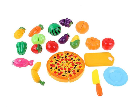 24pcs Corte Alimentos Vegetais Brinquedo Crianças Meninas Co