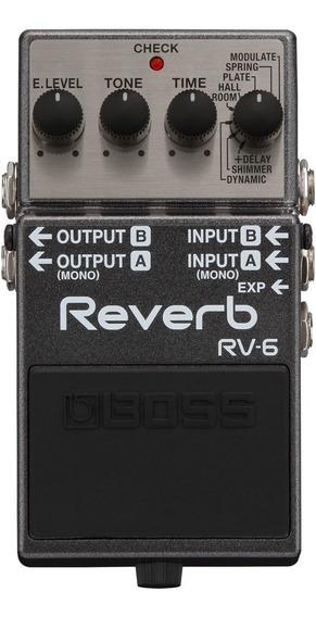 Pedal Boss Rv 6 Reverb Com Shimmer Rv6 Para Guitarra
