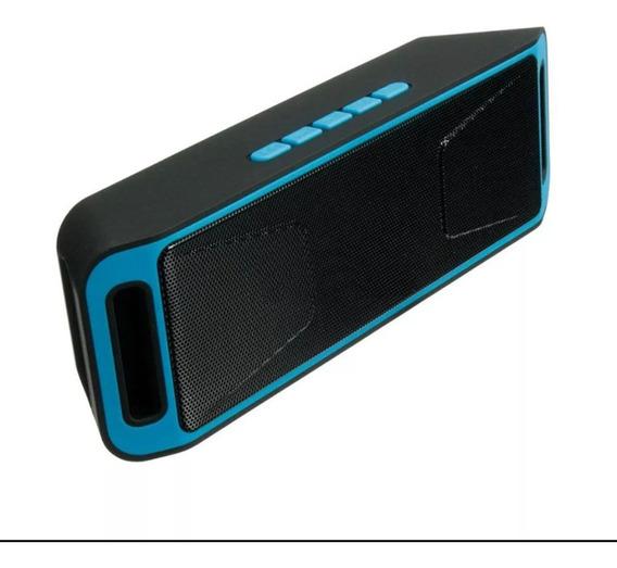 Caixa De Som Megabass Stéreo Subwoofer Bluetooth Azul