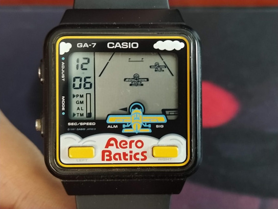 Relógio Casio- Game Watch - Casio Ga-7 Aero Batics
