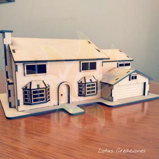 Casa Los Simpson Para Armar Puzzle 3d -corte Láser-