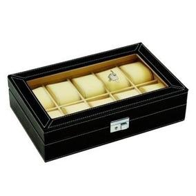 Porta Relógios Em Caixa De Couro Sintético - Th0005b