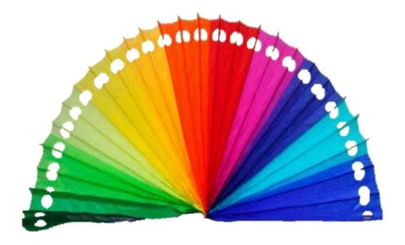 Decoración Abanico Todos Los Colores Plegable 10 Piezas