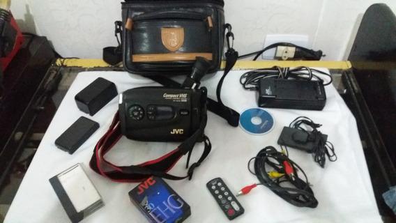Filmadora Vhs Jvc Gr-ax700 Completa Com Bolsa (defeito)