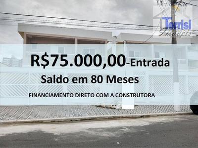 Casa Em Praia Grande, 03 Dormitórios Sendo 01 Suíte, Condominio Fechado,200m Do Mar Com Piscina E Churrasqueira, Ca0123 - Ca0123