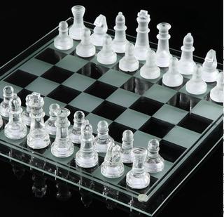 Ajedres De Vidrio 25 X 25 Cms, Regalo Ideal. Glass Chess