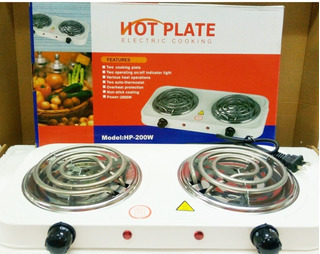 Cocina Eléctrica Portátil 110v 2 Hornillas Hot Plate (20vrd)