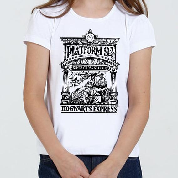 Camiseta Infantil Feminina - Expresso Hogwarts Harry Potter
