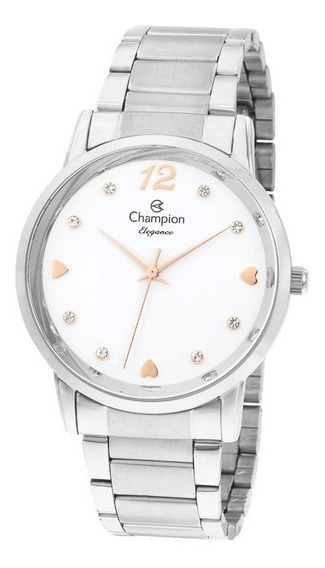 Relógio Feminino Champion Prata Cn24066q