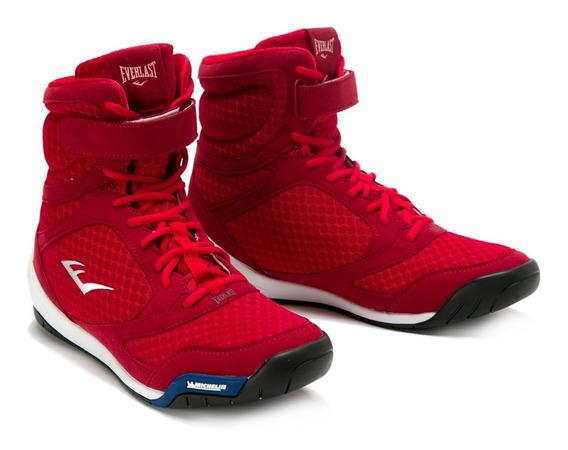 Zapatillas Para Boxeo Corte Alto Rojo - Everlast