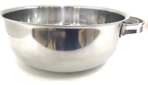 Imagen 1 de 5 de Bowl De Acero Inoxidable 24cm De Diametro Con Manija