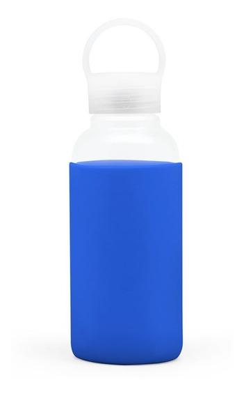 Botella De Vidrio Borosilicato 350ml Manga Silicona Ó Gato