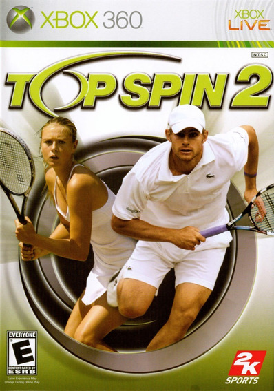 Top Spin 2 Xbox 360 Jogo Original Completo Mídia Física