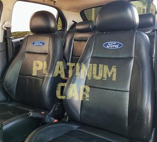 Capas Banco Carro 100% Couro Ka Fiesta Hatch/ Sedan Ecosport