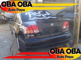 Honda Civic Ex 1.7 2006/2006 - Sucata Para Retirar Peças